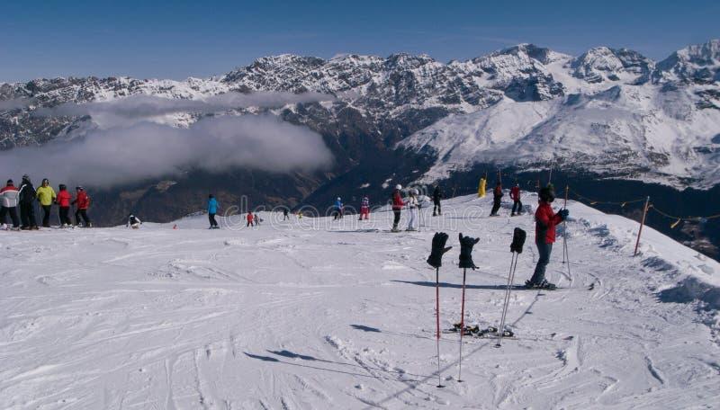 Sciando in Italia fotografie stock