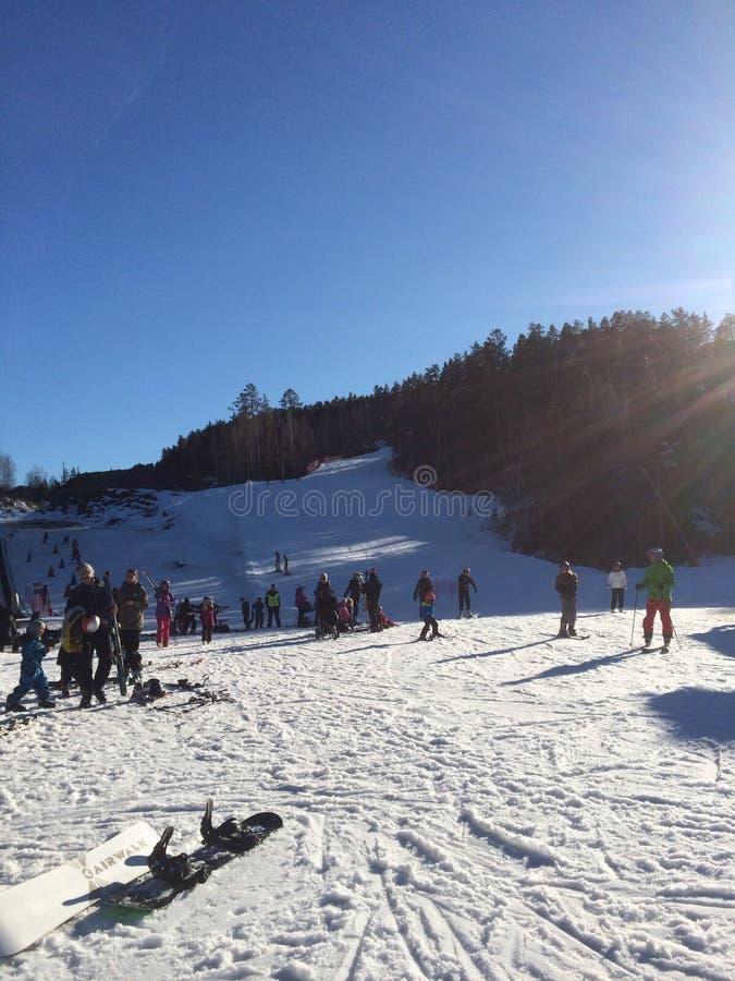 Sciando in Norvegia fotografia stock