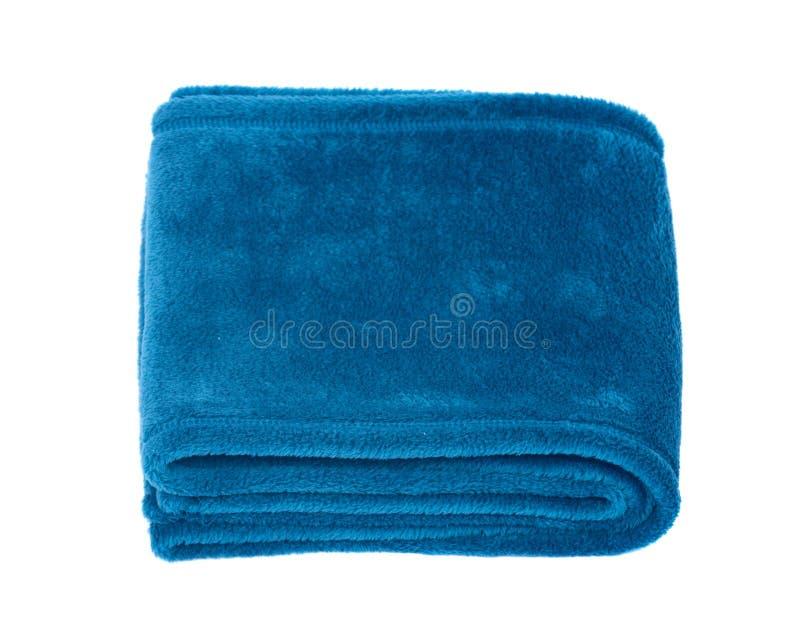 Sciarpa blu del poliestere fotografie stock