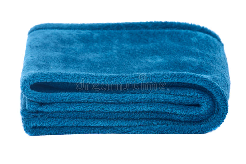 Sciarpa blu del poliestere immagine stock