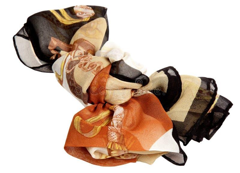 Sciarpa da seta su un fondo bianco fotografia stock libera da diritti