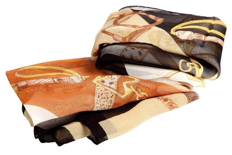Sciarpa da seta su un fondo bianco fotografia stock