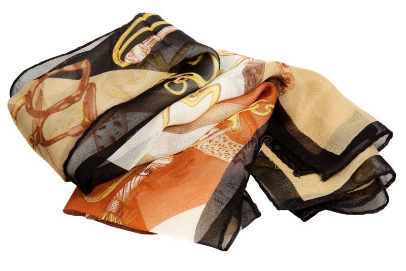 Sciarpa da seta su un fondo bianco immagine stock