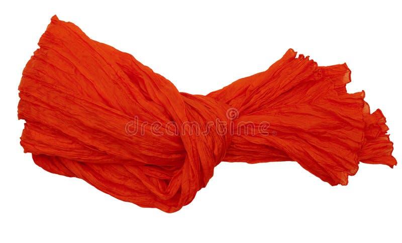 Sciarpa di seta della piega - isolata fotografia stock