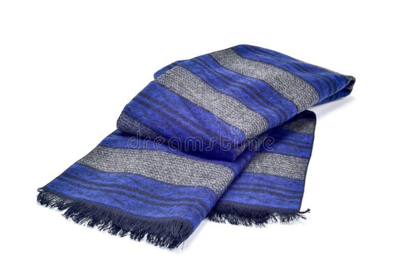Sciarpa grigia e blu fotografia stock