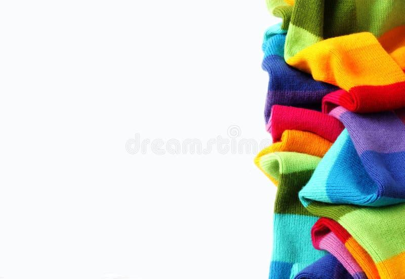 Sciarpa multicolore isolata fotografie stock libere da diritti