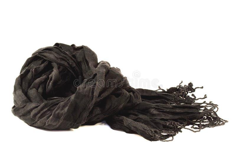Sciarpa nera fotografia stock