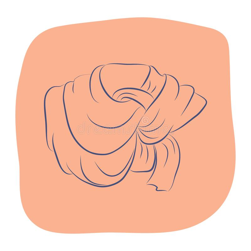 Sciarpa o scialle realistica Accessori di modo delle donne illustrazione di stock