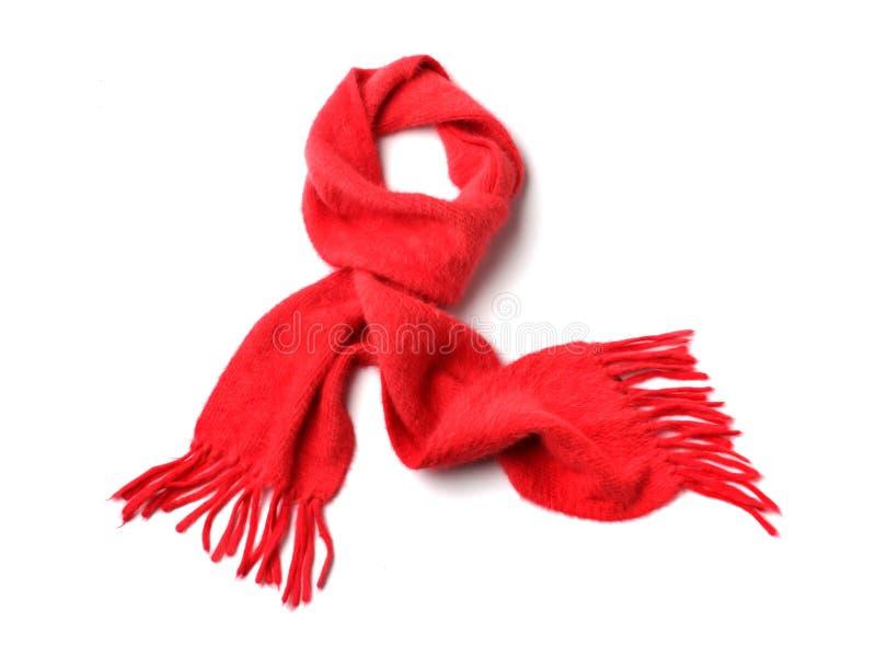 Sciarpa rossa fotografia stock