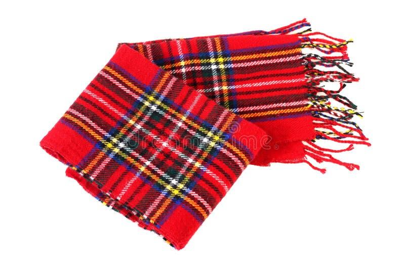 Sciarpa rossa del cotone isolata su fondo bianco immagine stock libera da diritti