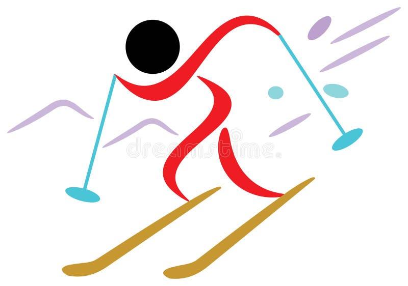Sciatore royalty illustrazione gratis