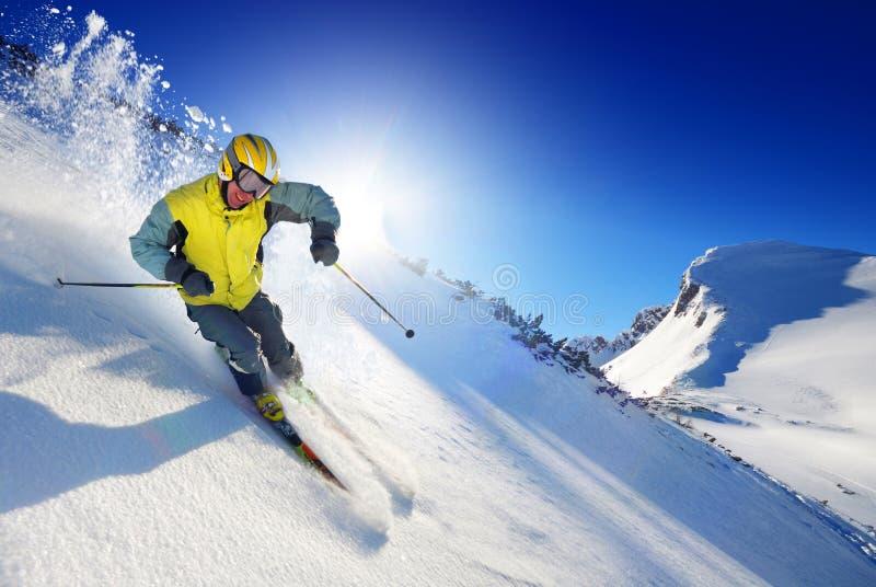 Sciatore fotografie stock
