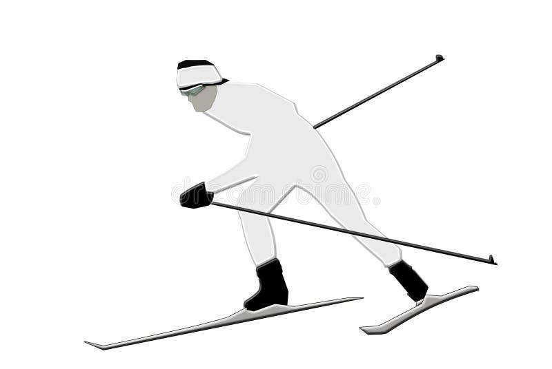 Sciatore illustrazione vettoriale