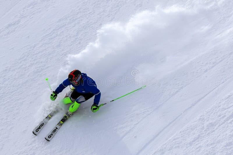 Sciatore alpino fotografie stock