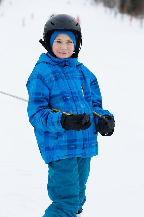 Sciatore del ragazzo immagini stock libere da diritti