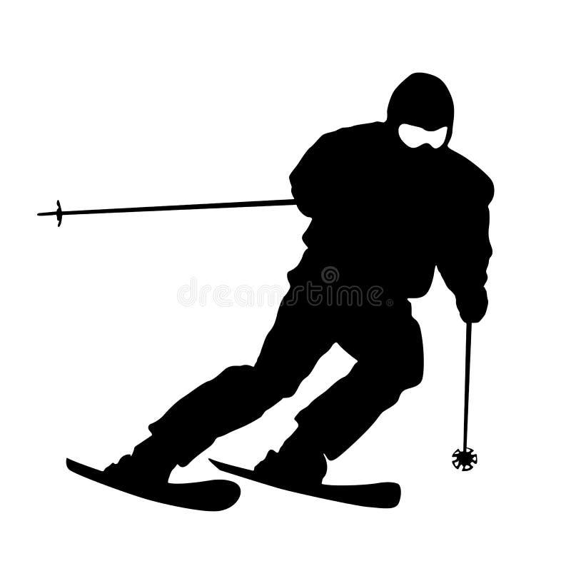 Sciatore della montagna royalty illustrazione gratis