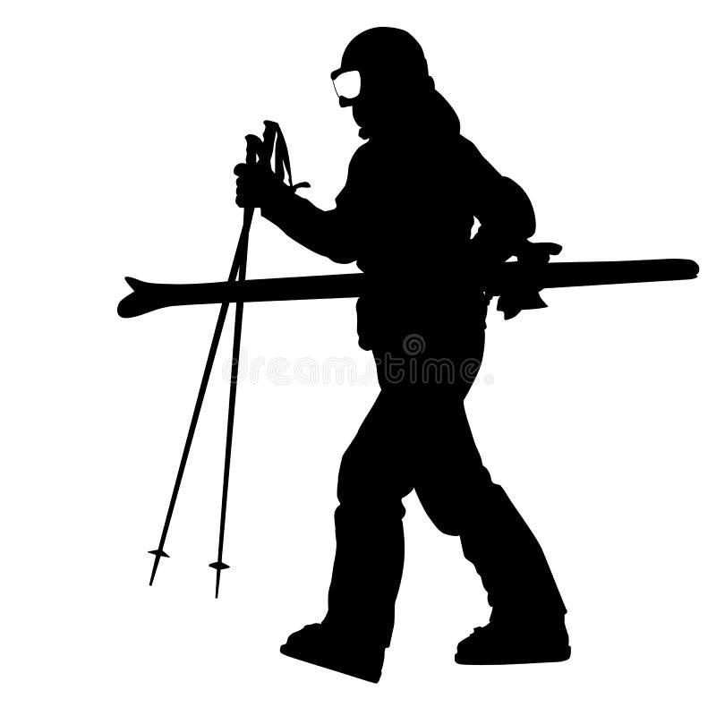 Sciatore della montagna illustrazione di stock