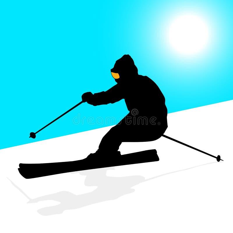 Sciatore della montagna illustrazione vettoriale