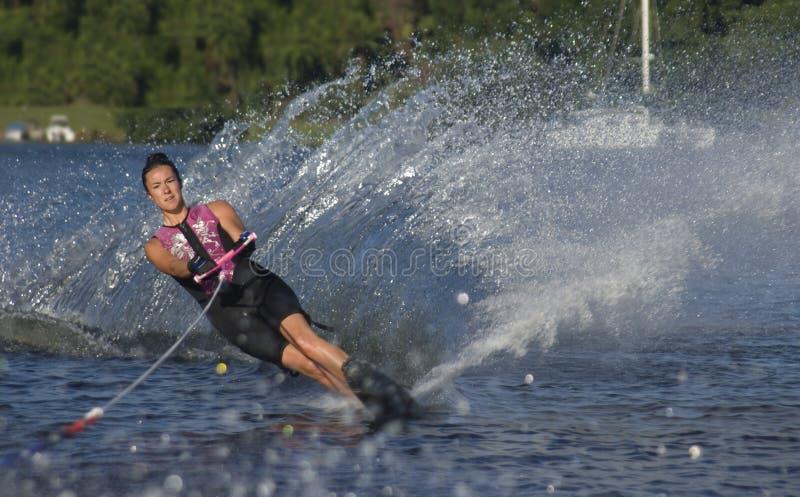 Sciatore di primo mattino immagini stock