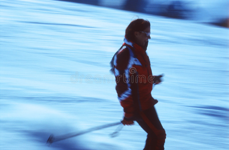 Sciatore nell'azione 3 immagini stock