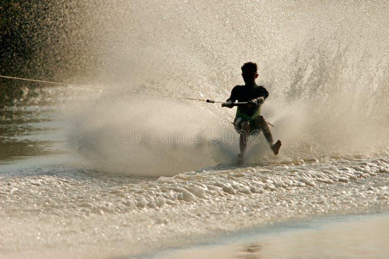 Sciatore a piedi nudi immagine stock