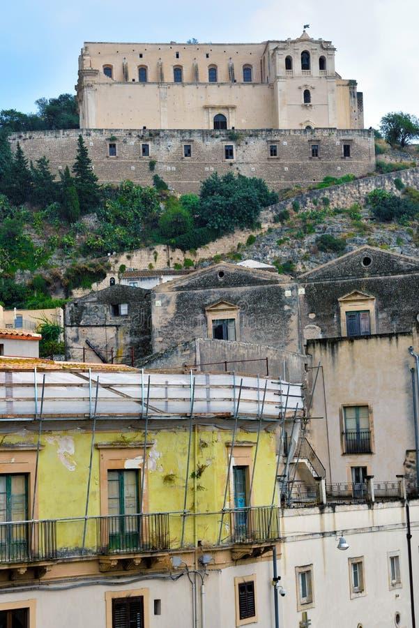 Scicli Sicilien Italien arkivfoto