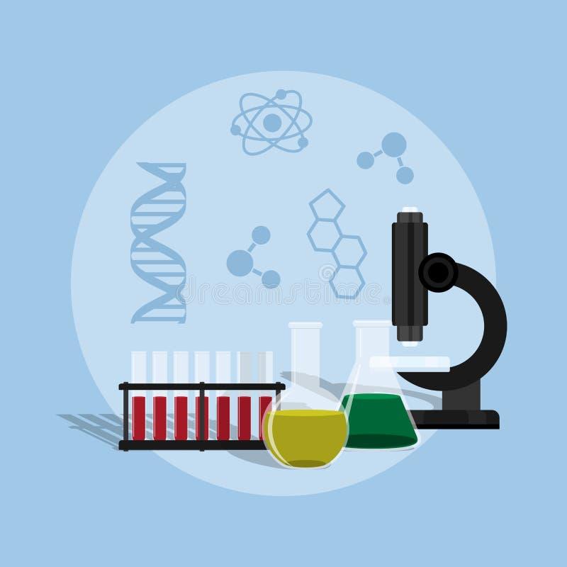 science illustration de vecteur