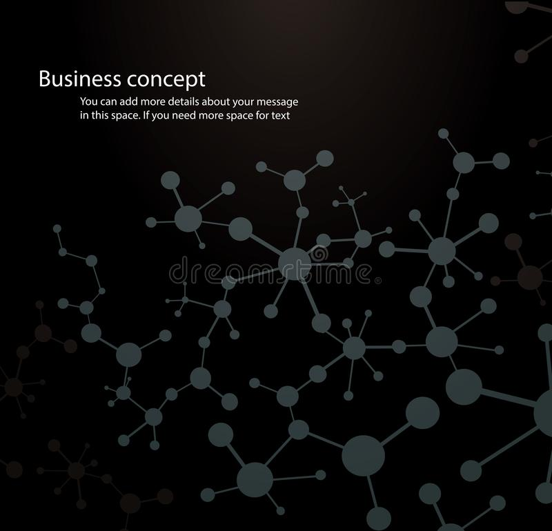 Science background ,black molecule background genetic and-chemical compounds medical technology or scientific. Concept for your design royalty free illustration
