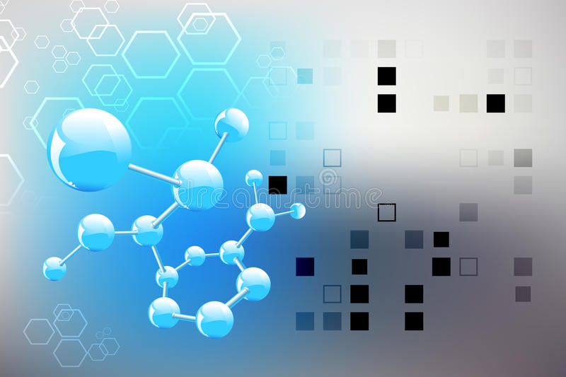 Science Background, Molecule Royalty Free Stock Images