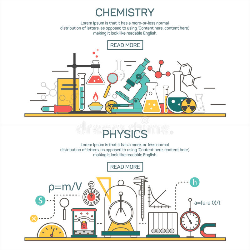 Science banner vector concepts in line style chemistry and physics download science banner vector concepts in line style chemistry and physics design elements laboratory ccuart Gallery