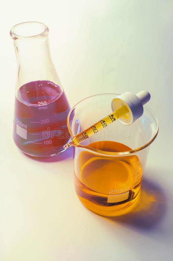 Science Beaker Experiment stock images
