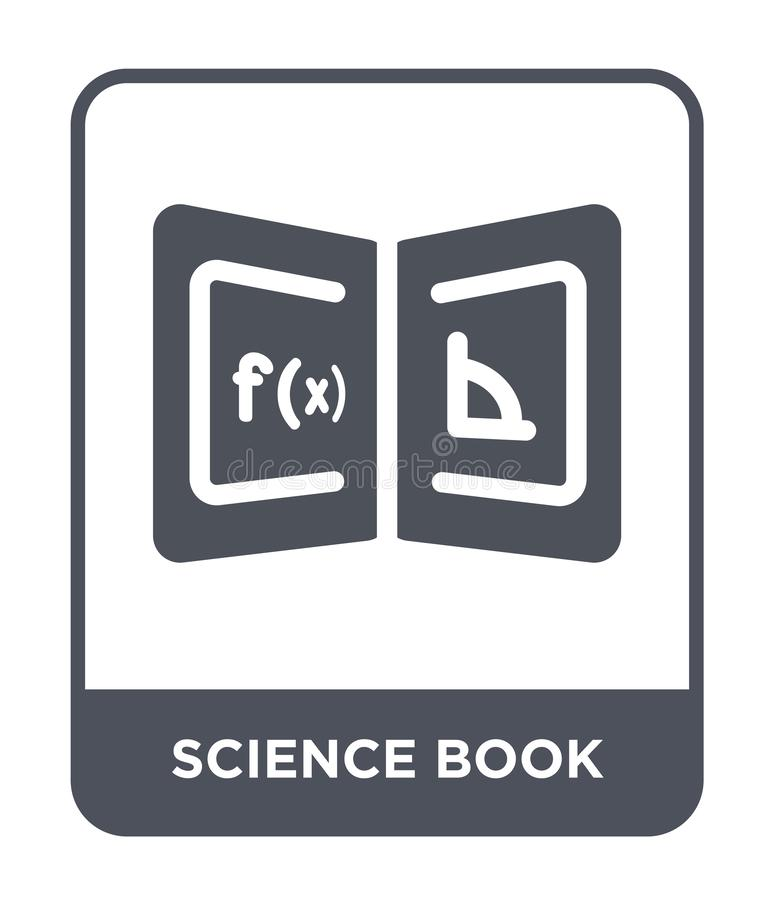 Science book icon in trendy design style. science book icon isolated on white background. science book vector icon simple and. Modern flat symbol for web site stock illustration