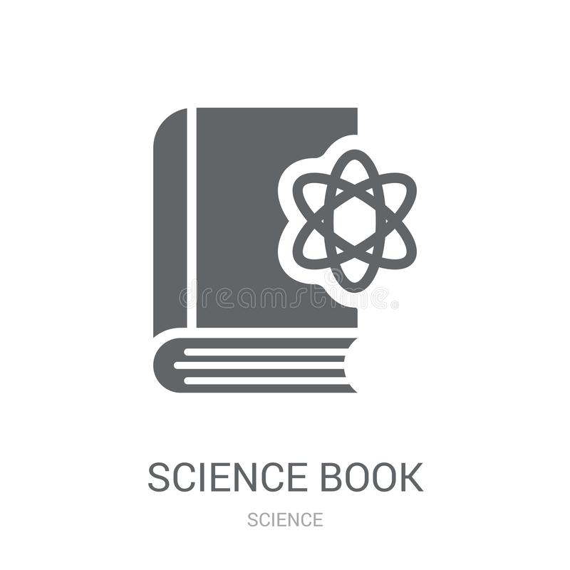 Science book icon. Trendy Science book logo concept on white background from Science collection. Suitable for use on web apps, mobile apps and print media vector illustration