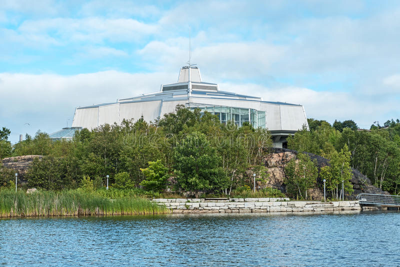 Science Center North in Sudbury,Ontario-Canada. View at modern buidings of Science Center in Sudbury,Ontario-Canada royalty free stock photography