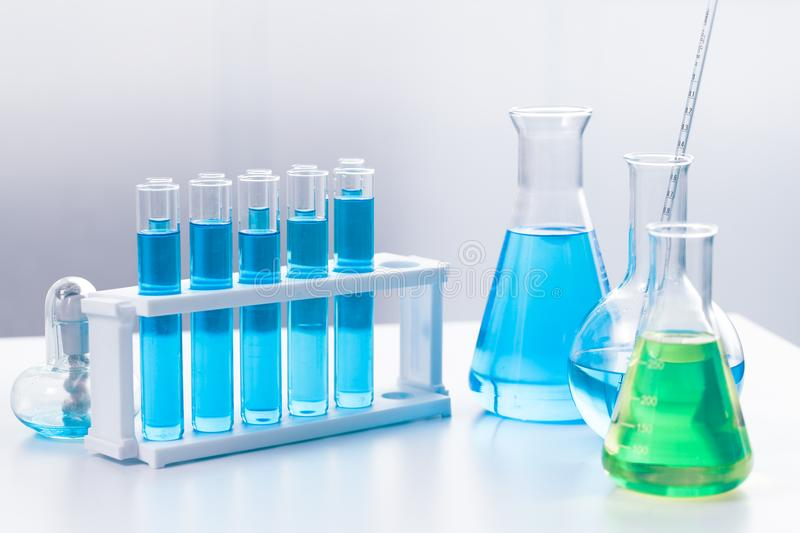 Science Chemical medical glassware in research lab for background. Science Chemical medical glassware in research lab for sci concept wallpaper stock photo