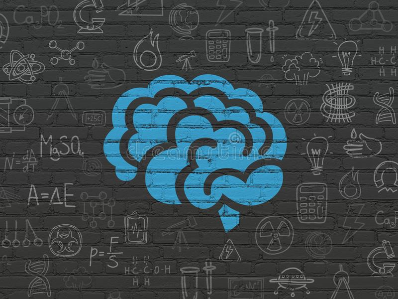 Science concept: Brain on wall background royalty free illustration