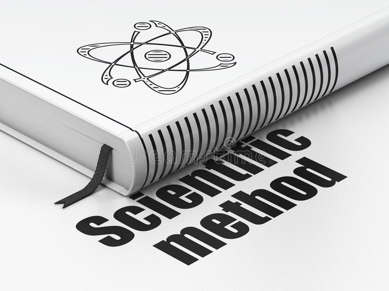Science concept: book Molecule, Scientific Method on white background vector illustration