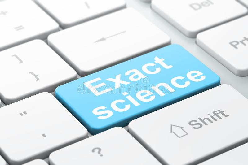 Science concept: Exact Science on computer keyboard background. Science concept: computer keyboard with word Exact Science, selected focus on enter button vector illustration