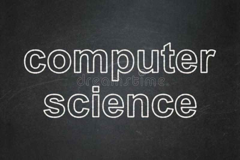 Download Science Concept Computer On Chalkboard Background Stock Illustration