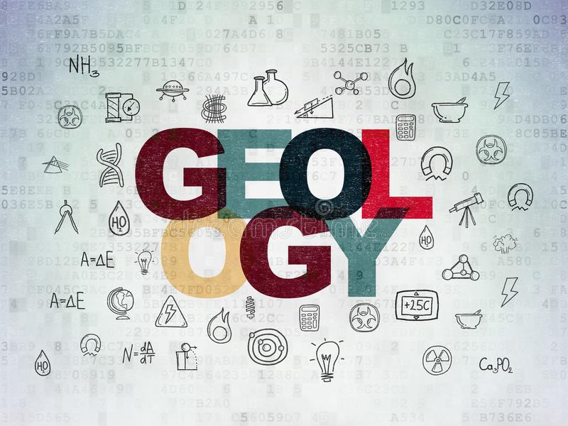 Science concept: Geology on Digital Data Paper background vector illustration