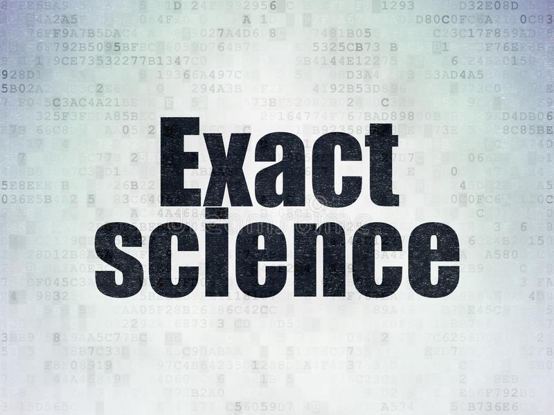 Science concept: Exact Science on Digital Data Paper background. Science concept: Painted black word Exact Science on Digital Data Paper background vector illustration