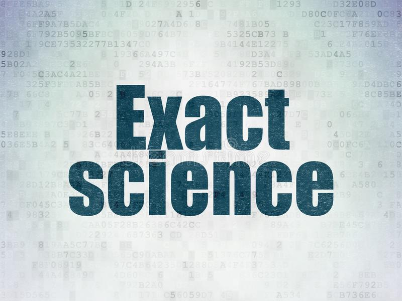 Science concept: Exact Science on Digital Data Paper background. Science concept: Painted blue word Exact Science on Digital Data Paper background royalty free illustration