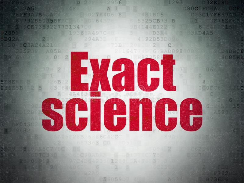 Science concept: Exact Science on Digital Data Paper background. Science concept: Painted red word Exact Science on Digital Data Paper background stock illustration