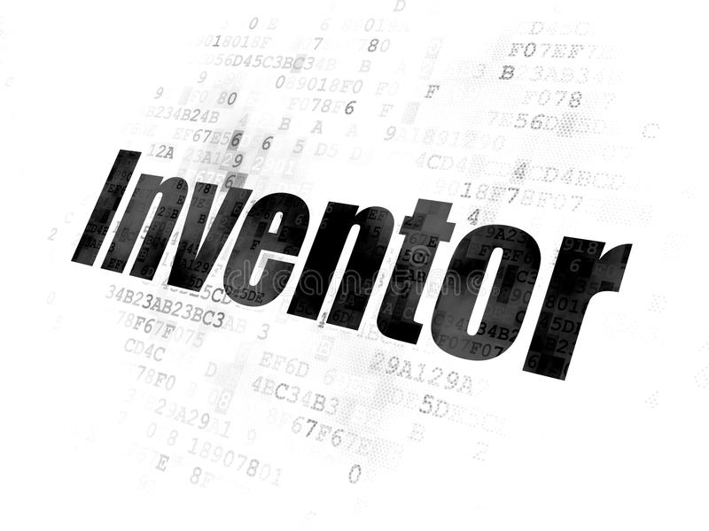 Science concept: Inventor on Digital background. Science concept: Pixelated black text Inventor on Digital background vector illustration