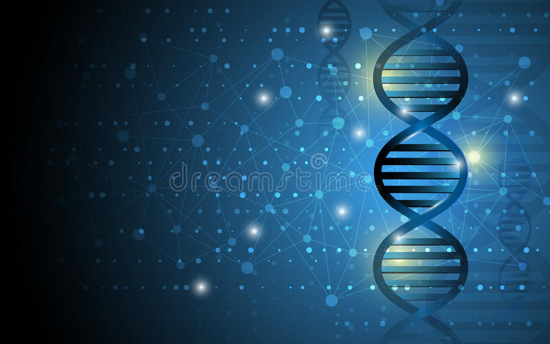 science dna structure abstract design background stock