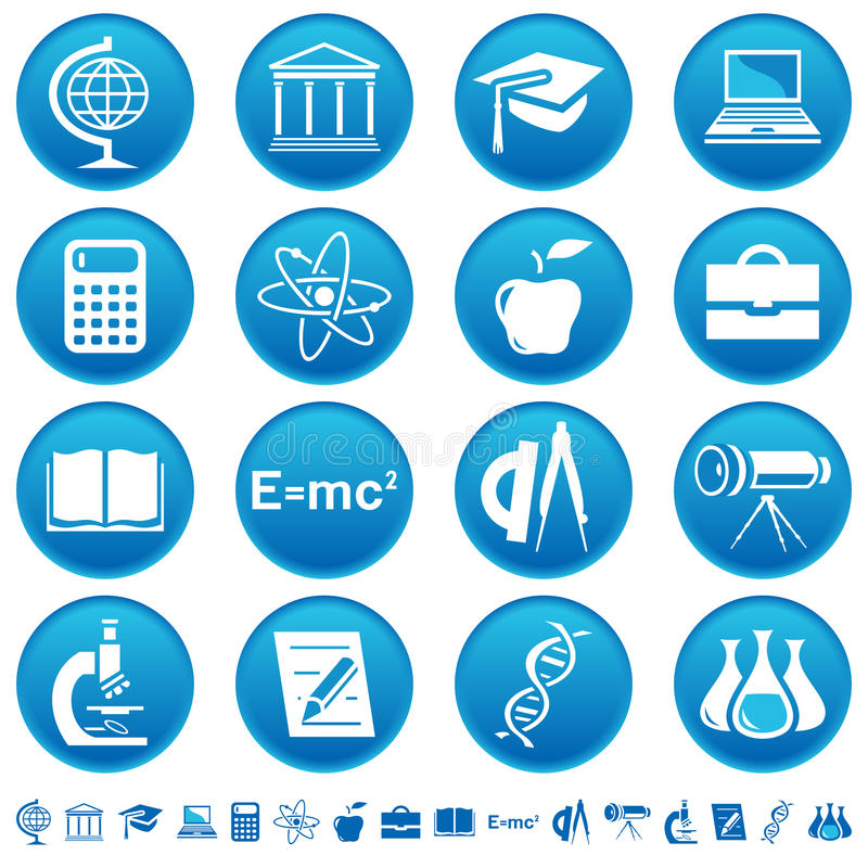 Science & education icons stock illustration