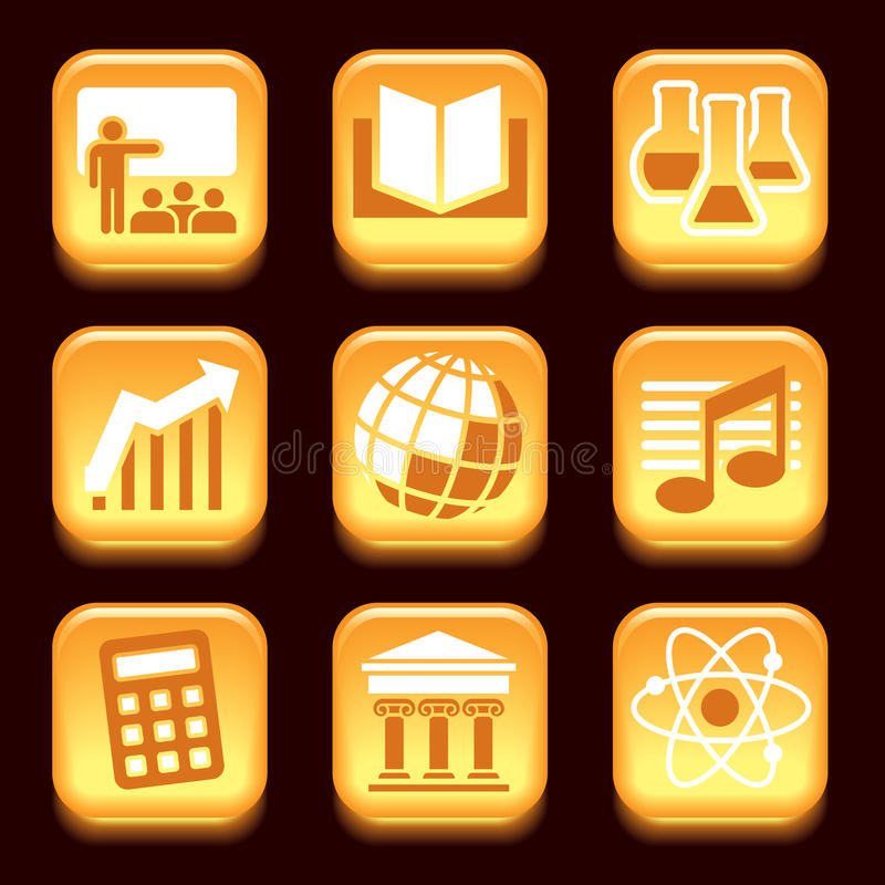 Science and education icons vector illustration