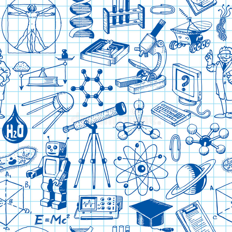 Science And Education Seamless Pattern vector illustration