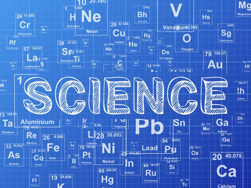 Science Element Blueprint Background Stock Vector Illustration Of