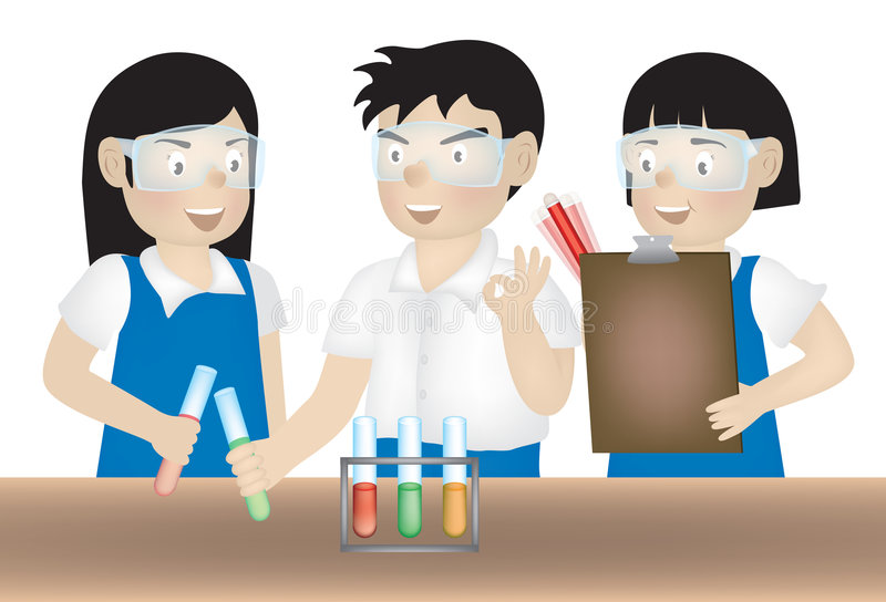 Download Science experiment stock illustration. Image of rack, drawing - 7017347